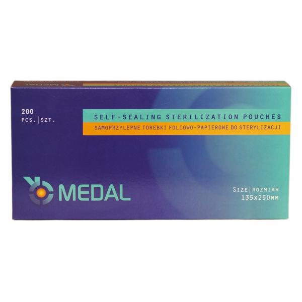 Torebki do sterylizacji MEDAL 135 x 250 mm 200szt