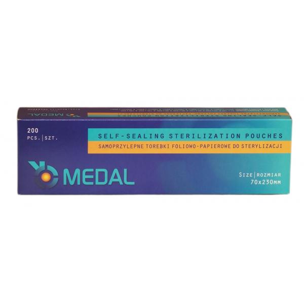 Torebki do sterylizacji MEDAL 70 x 230 mm 200szt