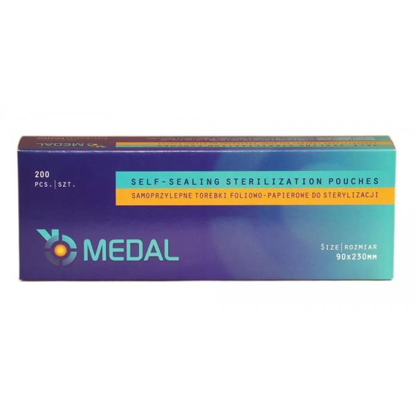 Torebki do sterylizacji MEDAL 90 x 230 mm 200szt